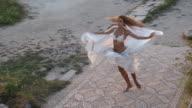 beautiful dance on the ruins