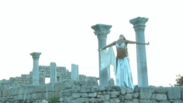 beautiful dance on the ruins