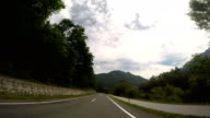 Beautiful day for a long drive through Alps