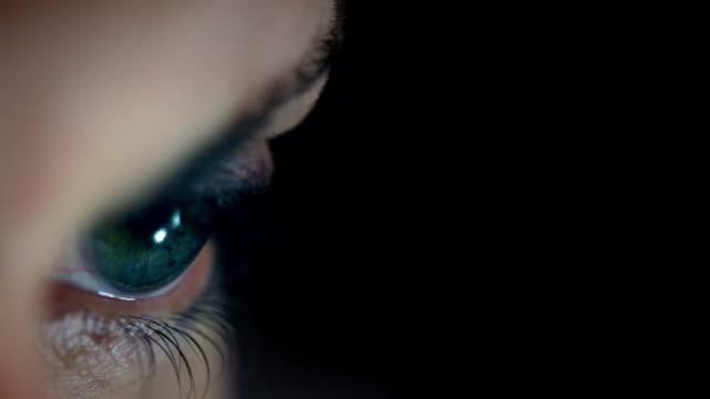 Beautiful Eye with copy space. HD, NTSC, PAL