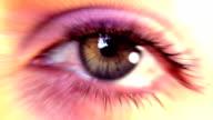 Beautiful Eye with flare. HD