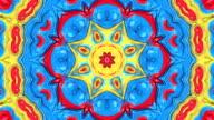 Beautiful floral kaleidoscope