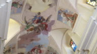 Beautiful frescos in the Cathedral of Noto, Sicily