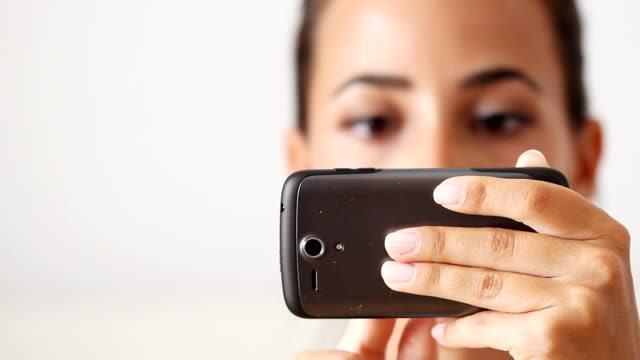 Beautiful Girl with smart phone