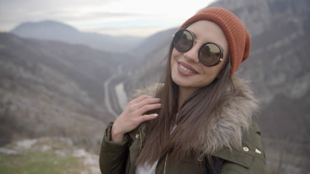 Beautiful hiker girl