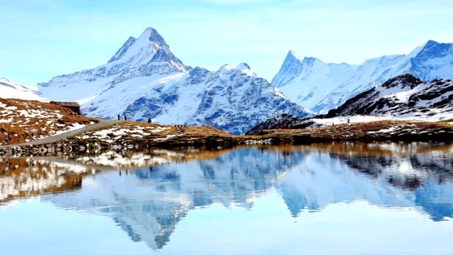 Bellissimo lago in Alpi, Bachalpsee