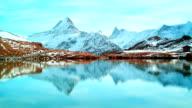 Beautiful lake under Alps, Bachalpsee