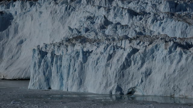 Beautiful little glacier calving at the front of the ice wall