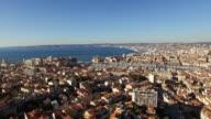 AERIAL Beautiful Marseille Harbor
