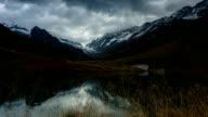 beautiful mountain and lake in Alps