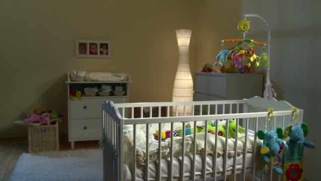 HD: Beautiful Nursery Room At Night