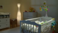 HD DOLLY: Beautiful Nursery Room At Night