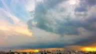 Beautiful rainstorm and grey clouds.