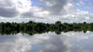 Beautiful reflection on Amazon river