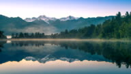 Landschap van de prachtige omgeving van de stad Matheson Lake Fox Glacier zuidelijke Alpen bergdalen Nieuw-Zeeland