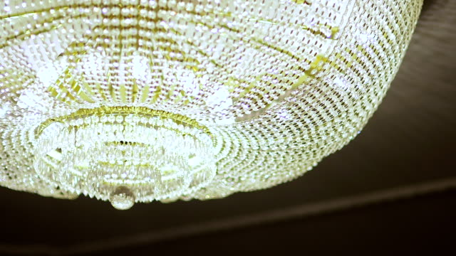 Beautiful shining elegant crystal chandelier