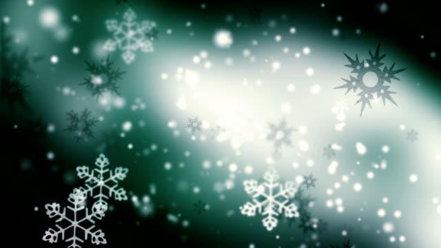 Beautiful snowflakes loop