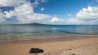 Beautiful Sunny day at Takapuna Beach, Auckland, New Zealand.