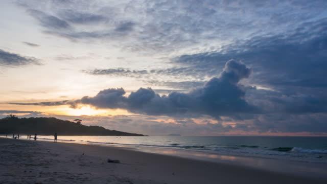 Beautiful sunrise at sea