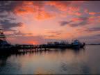 Beautiful sunset in Islamorada harbor