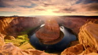 DS Beautiful sunset scene at the Horseshoe Bend