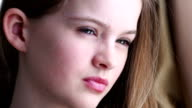 Beautiful teenager looking at camera