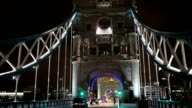 Beautiful tower bridge at night