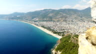 Beautiful view from Alanya Castle with background of Alanya City