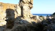 Schöne Aussicht vom Anamurium Ancient City in Anamur in der Türkei