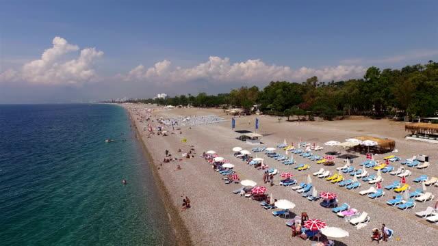 Beautiful view of Antalya beach in summer