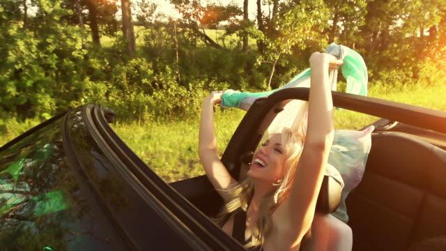 Beautiful woman enjoys the air
