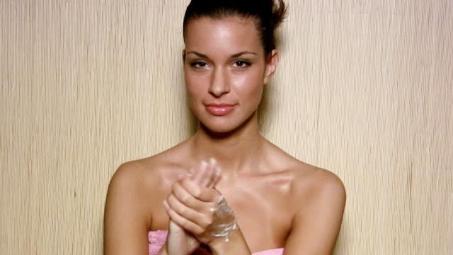 HD: Beautiful woman hands care