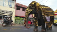 MS PAN beautifully adorned elephant parades in Seenigama annual Perahern parade in Buddhist procession AUDIO / Sinigama, Southern Province, Sri Lanka
