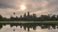 Beauty of sunrise over Angkor Wat
