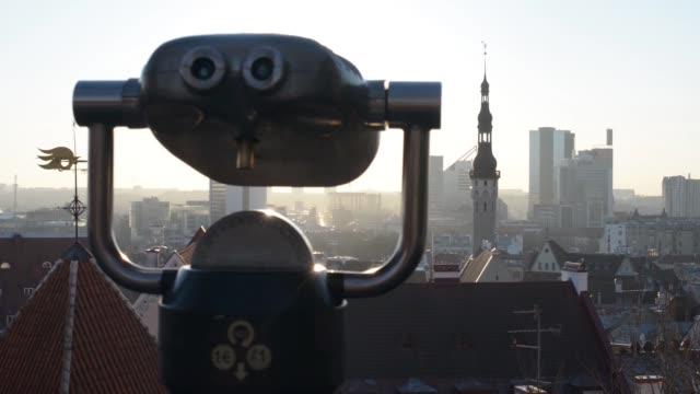 Beauty shots of the skyline of Tallinn Estonia on Tuesday March 17 2015