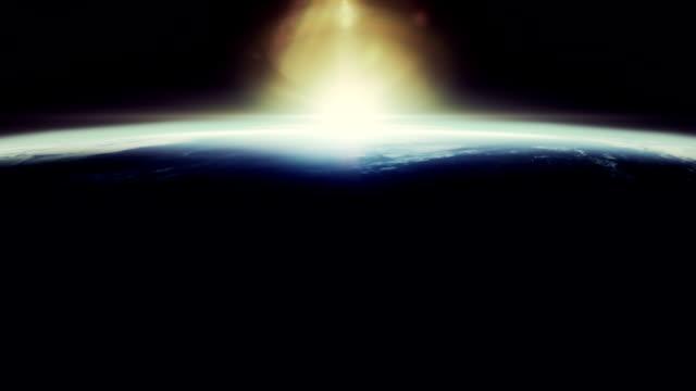 Beautyfull sunrise from space