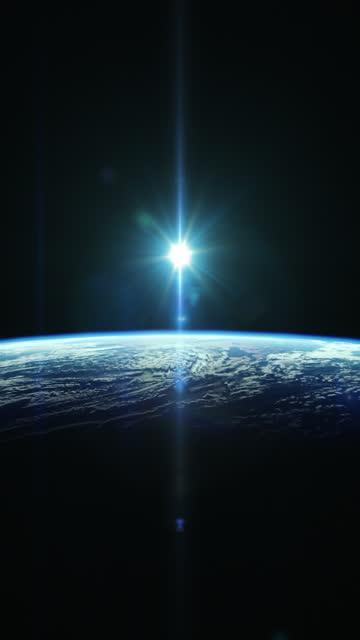 Beautyfull 'Vertical' sunrise from space
