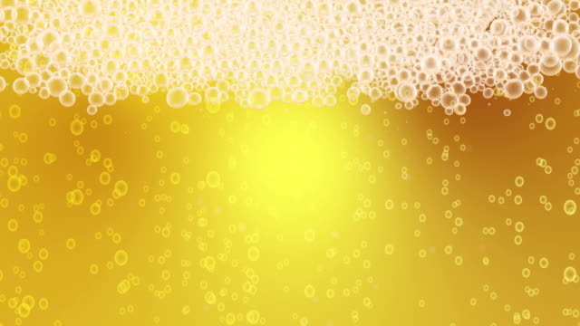Beer Bubbles Background Loop