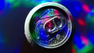Beer can rotating Disco party light Water drops Colorful
