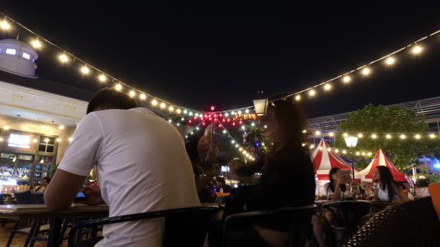 beer garden time lapse