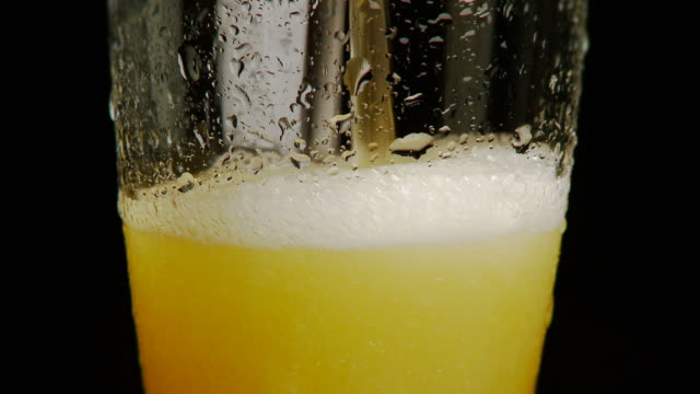 Beer Poured Into Glass NTSC 24p Full HD