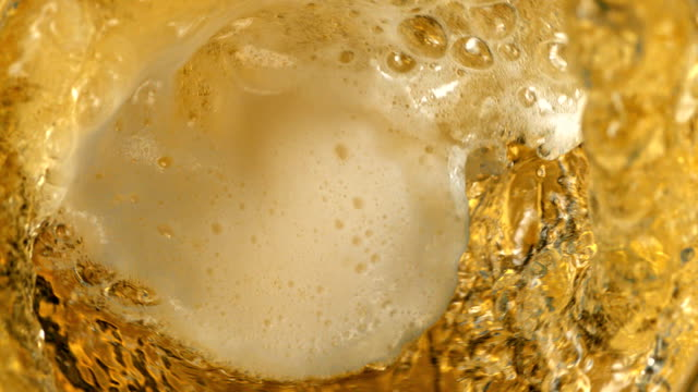 Beer pouring - close up