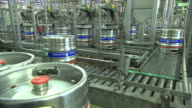 beer production, drums, conveyor, transporting