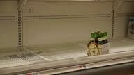 Beer shelves in preperation for a storm on October 28 2012 in Washington DC