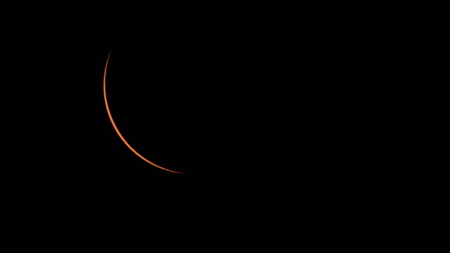 Beginning of Totality as Sliver of Sun Disappears During Total Solar Eclipse Over Oregon