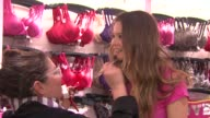 Behati Prinsloo at the Holiday Shopping Event At The New Victoria's Secret SoHo Store at New York NY