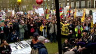 London torch procession disrupted by Tibet protesters Protestors at Argyle Square including Joanna Lumley Protestors gathered in square listening to...
