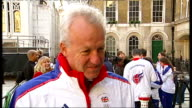 London victory parade compilation Simon Clegg interview SOT Important to get into the schools and educate children about 2012 Olympics / Not worried...