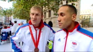 Team GB celebration and victory parade rushes More Jefferies and DeGale interviews SOT