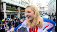 Team GB celebration and victory parade rushes More of Adlington interview with Katie Bailey as talking about meeting the Queen SOT